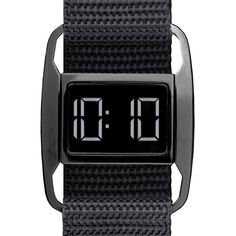 British industrial designer Michael Young has relaunched the PXR-5 exclusively at Dezeen Watch Store. Originally one of the first products sold when the site launched in 2010, the PXR-5 is an understated design classic with a simple digital face and adjustable nylon Velcro strap.