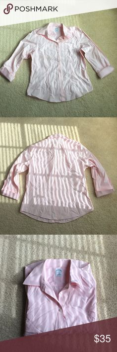 Pink BROOKS BROTHERS 346 shirt BROOKS BROTHERS 346 shirt • pink • 3/4 sleeves • fitted • Sz 12 • excellent condition • fast same/ next day shipping Brooks Brothers Tops Button Down Shirts