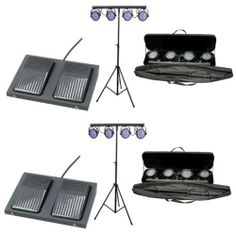 2 CHAUVET MINI-4BAR LED Pro DJ Stage Wash Light Systems by Chauvet. $454.99. The Chauvet Mini-4Bar is a ready-to-go, mobile wash system with four lights, sporting 75 LEDs (25 red, 25 green and 25 blue) per head. In just five minutes this fixture can be set up and in use, plus each light can be positioned independently for maximum coverage. This versatility allows for the lights to crisscross or be aimed at different elevations for a multitude of effects. The unit comes with a tri...