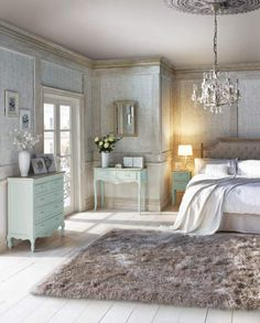 Filling your room with gorgeous duck egg furniture, layering in soft lace and quaint accessories will create a bedroom fit for a queen #thrones #queen #bedroom