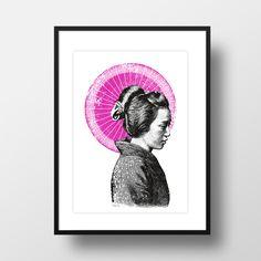 """A4 Artprint """"Geisha"""" von AMY & KURT BERLIN"""