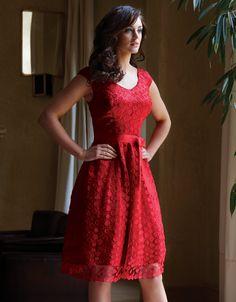 Lace Full Skirt Dress