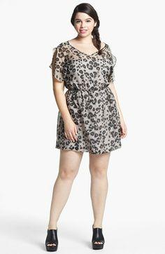 Animal Print Dress (Plus Size) | Nordstrom + Leggings, Belt and Boots