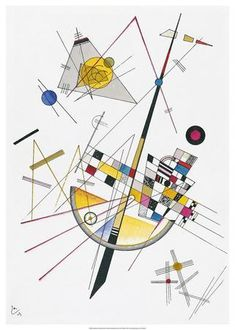 Composition VIII 1923 Giclee Print by Wassily Kandinsky Kandinsky For Kids, Kandinsky Art, Wassily Kandinsky Paintings, Paintings Famous, Picasso Paintings, Modern Art Paintings, Famous Artists, Abstract Painters, Abstract Art