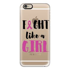 iPhone 6 Plus/6/5/5s/5c Case - FIGHT LIKE A GIRL BREAST CANCER... ($40) ❤ liked on Polyvore featuring accessories, tech accessories, phone, phone cases, iphone case, iphone cases, apple iphone cases and iphone cover case