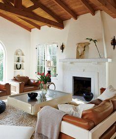 Buhai's whitewashed living room. - Photographed by Dominique Vorillon, Vogue, April 2015