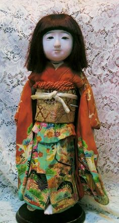 "16"" Vintage Japanese ""Ichimatsu"" child doll in original costume from joan-lynetteantiquedolls on Ruby Lane"