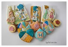 Holly Hobbie Cookies - by Kim Coleman (Sugar Rush Custom Cookies) @ CakesDecor.com - cake decorating website