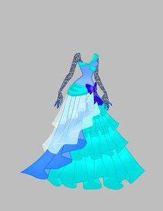 Gown Adoptable SOLD by shweetcupcake.deviantart.com on @DeviantArt