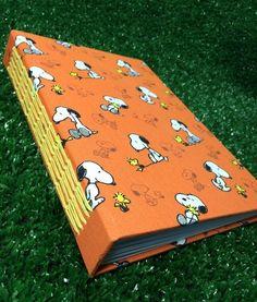 Caderno Snoopy  #andreapapelecia #encadernação #bookbinding