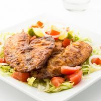 Tilapia with Almond/cheese crust