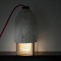 Concrete Table Lamp by 220+ | MONOQI #bestofdesign | Concrerte armature…