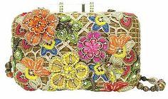 Mary Frances Bags Winter One with Nature Flower Net Beaded Purse Handbag New | eBay