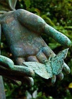 """""""Honest disagreement is often a good sign of progress. Sculpture Art, Garden Sculpture, Les Fables, Buddha Zen, Garden Statues, Belle Photo, Shades Of Green, Garden Art, Mandala"""