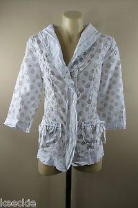 Size S 10 BOO Radley Ladies ZIP Jacket TOP Feminine Smart Casual Boho Chic Style | eBay