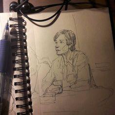 Заканчиваю. Меньше чем полторы серии осталось.  #drawing #illustration #portrait #sketch #pencil #sketchbook #art #artwork #painting #eskiz #topcreator #портрет #рисунок #карандаш #набросок #эскиз