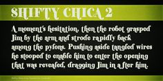 Shifty Chica 2 Font · 1001 Fonts