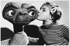 Drew Barrymore and E.T. in 1982 #films #80s