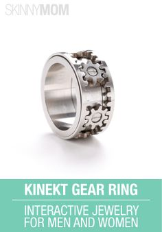 Check out this Kinekt Gear Ring!! Kinekt Design is interactive jewelry for men and women. #WomensFashion