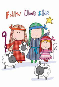Lara Ede illustration: Nativity cards