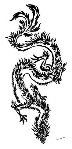 Dragon tribal by Sunima.deviantart… on Dragon tribal by Sunima. Tribal Dragon Tattoos, Japanese Dragon Tattoos, Tattoos Skull, Dragon Tattoo Designs, Tribal Tattoo Designs, Wolf Tattoos, Star Tattoos, Celtic Tattoos, Black Tattoos