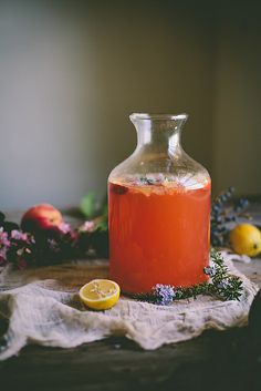 Peach & Rosemary Blossom Lemonade by Eva Kosmas Flores, via Flickr