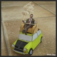 Mr. Bean Mini Paper Car Free Paper Model Download