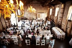 This is what 185 guests w/ banquet tables looks like. Photos by Brookelyn Photography.