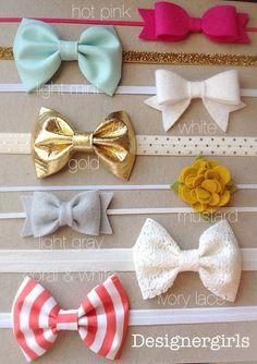 Ultimate headband package, baby girl bow headband, mint headband, gold headband…