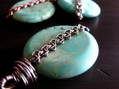Sterling Silver Wire Wrapped Turquoise Pendant