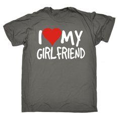 123t USA Men's I Love My Girlfriend Heart Funny T-Shirt