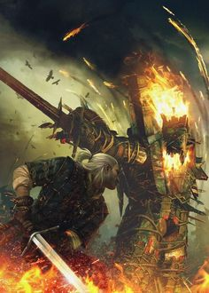 The Witcher 2 cover art by Bartek Gawel, via Behance BTW...for the best game cheats, tips,DL, check out: http://cheating-games.imobileappsys.com/