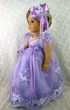 "Regency Jane Austen Gown Fits American Girl Caroline 18"" Littlecharmersdoll | eBay. Sold 6/14/13 for $145.00, one bidder."