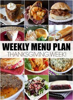 Menu Plan, November Week #3 + Thanksgiving Leftover Ideas!