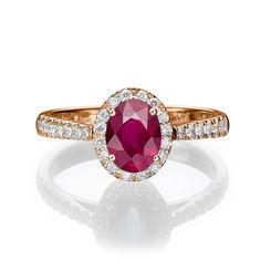 Rubi Engagement Ring Vintage Rubi Ring Rubi and by DiamondsMine, $1250.00