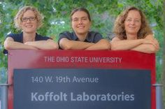 Ohio State University chemical and biomolecular engineering department researchers, left to right, Jessica Winter, Lisa Hall and Barbara Wys...