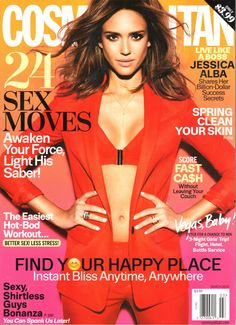 Jessica Alba can be seen wearing our Black Starburst Y-Necklacein the March 2016 issue ofCosmopolitan Magazine.
