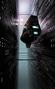 The dark corridors of Trantor, the ultimate future city