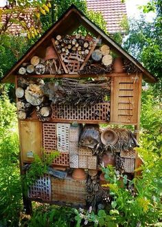 "Insect house for attracting the ""good bugs"" to your garden"