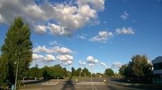 My uni car park on a beautiful Sunday
