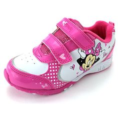 Minnie Mouse Girls Pink Lighted Sneakers Shoes (Toddler/Little Kid) Toddler Girl Shoes, Toddler Dress, Kid Shoes, Shoe Boots, Baby Shoes, Disney With A Toddler, Baby Disney, Disney Mickey, Disney Shoes