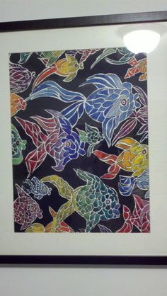 """""""The Ocean Deep"""" Watercolor and India Ink"""