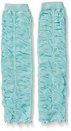 Aqua Ruffled Leg Warmers