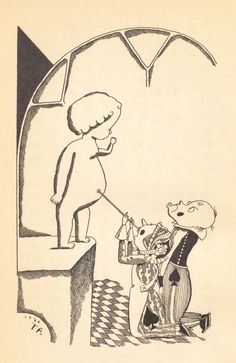 Illustration from the 1926 children's book King Ramu-ramu (ラムラム王), from 50 Watts fave Takeo Takei