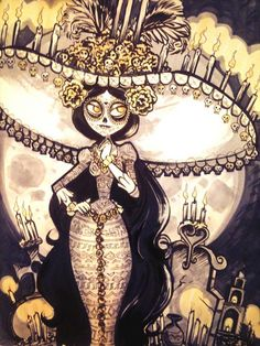 La Muerte, Book of Life in Inks and Prismacolors.