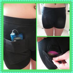 New shorts with built in pocket for the pump, you wear these under clothing…