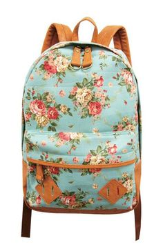 Oh my, I want this darling mint floral back-pack!