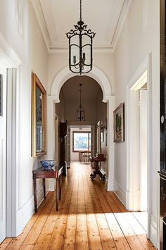 Stairway lighting requirements light for stairs (stairway) ideas, led, pend Style At Home, Edwardian Haus, Victorian, Stairway Lighting, Entry Hallway, Modern Hallway, Entryway Mirror, Hallway Ideas, Home Living