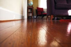 A squeaky floor is easier to fix if it's a floor that you can access from below.