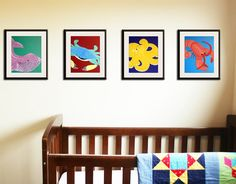 """We love the """"under the sea"""" theme for a nursery or child's room (boy or girl!). These prints would transition nicely as your child grows.  Nursery art prints Kids bathroom art prints 8x10 sea by Wallfry, $47.00"""